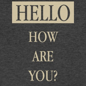 hello - Men's V-Neck T-Shirt by Canvas