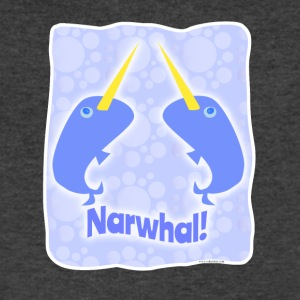 Double Narwhal Duel - Men's V-Neck T-Shirt by Canvas