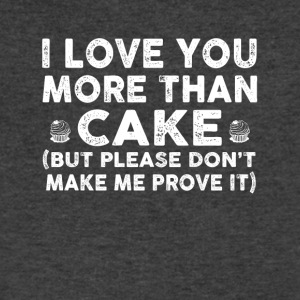 Love you more than cake - Men's V-Neck T-Shirt by Canvas