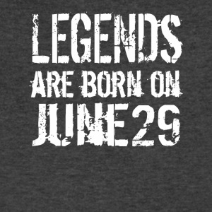 Legends are born on June 29 - Men's V-Neck T-Shirt by Canvas