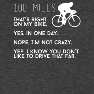 100 Miles Funny Bike - Men's V-Neck T-Shirt by Canvas