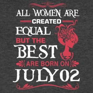 The Best Woman Born On July 02 - Men's V-Neck T-Shirt by Canvas