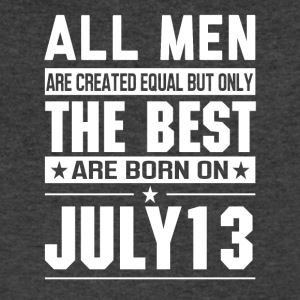 The Best Men Are Born On July 13 - Men's V-Neck T-Shirt by Canvas
