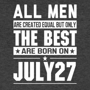 The Best Men Are Born On July 27 - Men's V-Neck T-Shirt by Canvas