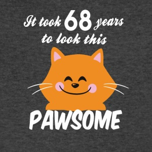 It took 68 years to look this pawsome - Men's V-Neck T-Shirt by Canvas