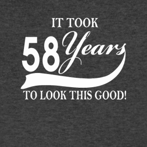 It took 58 years to look this good - Men's V-Neck T-Shirt by Canvas