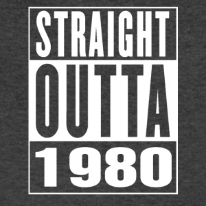 Straight Outa 1980 - Men's V-Neck T-Shirt by Canvas