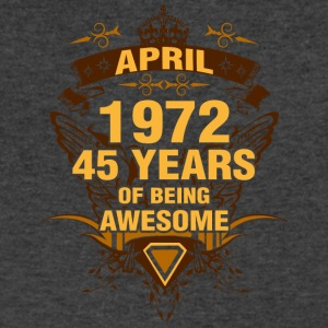 April 1972 45 Years of Being Awesome - Men's V-Neck T-Shirt by Canvas