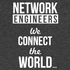 Funny Network Engineer Shirt - Men's V-Neck T-Shirt by Canvas