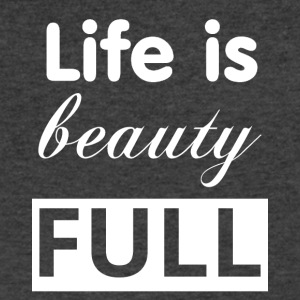 life is beauty full white - Men's V-Neck T-Shirt by Canvas