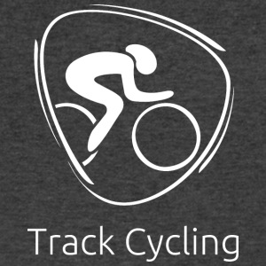 Track_cycling_white - Men's V-Neck T-Shirt by Canvas