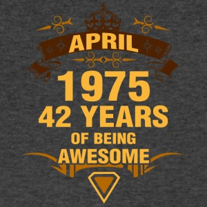 April 1975 42 Years of Being Awesome - Men's V-Neck T-Shirt by Canvas