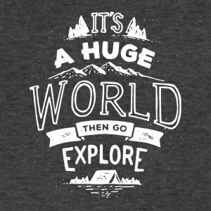 It's a huge world the go explore tshirt - Men's V-Neck T-Shirt by Canvas
