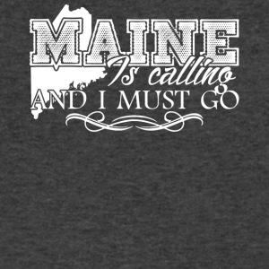Maine Is Calling And I Must Go Shirt - Men's V-Neck T-Shirt by Canvas