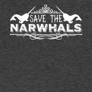 Save The Narwhals Shirt - Men's V-Neck T-Shirt by Canvas