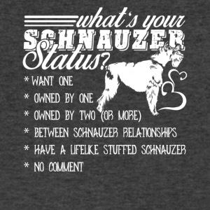 Schnauzer Status Shirt - Men's V-Neck T-Shirt by Canvas