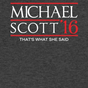 Michael Scott That's What She Said 2016 TShirt - Men's V-Neck T-Shirt by Canvas