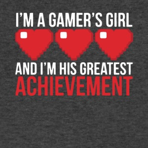 I'm His Greatest Achievement T Shirt - Men's V-Neck T-Shirt by Canvas