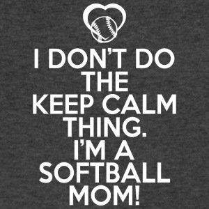 I'm A Softball Mom T Shirt - Men's V-Neck T-Shirt by Canvas