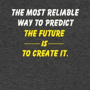 create the future - Men's V-Neck T-Shirt by Canvas