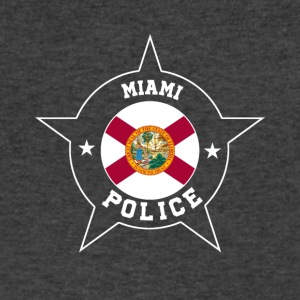 Miami Police T Shirt - Florida flag - Men's V-Neck T-Shirt by Canvas