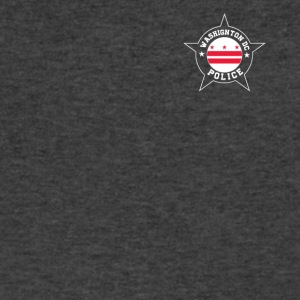 Washington DC Police T Shirt - Washington DC flag - Men's V-Neck T-Shirt by Canvas