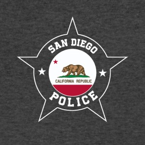 San Diego Police T Shirt - California flag - Men's V-Neck T-Shirt by Canvas