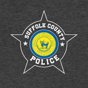 Suffolk County Police T Shirt - Suffolk County fl - Men's V-Neck T-Shirt by Canvas
