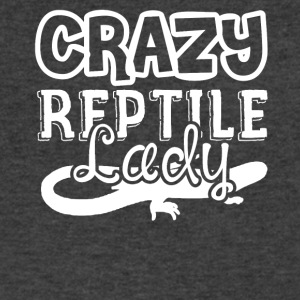Crazy Reptile Lady Shirts - Men's V-Neck T-Shirt by Canvas