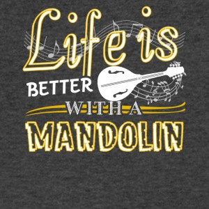 Life Is Better With Mandolin Shirt - Men's V-Neck T-Shirt by Canvas