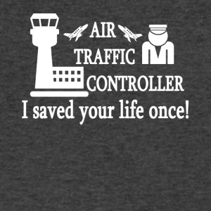 Air Traffic Control Tee Shirt - Men's V-Neck T-Shirt by Canvas