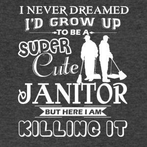 Super Cute Janitor Shirts - Men's V-Neck T-Shirt by Canvas
