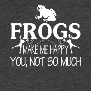 FROGS MAKE ME HAPPY TEE SHIRT - Men's V-Neck T-Shirt by Canvas