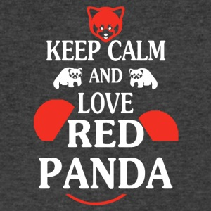 Keep Calm And Love Red Pandas Tees Shirt - Men's V-Neck T-Shirt by Canvas