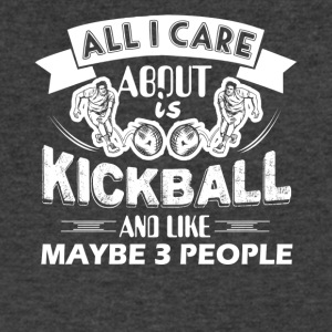 All I Care About Is Kickball Shirt - Men's V-Neck T-Shirt by Canvas