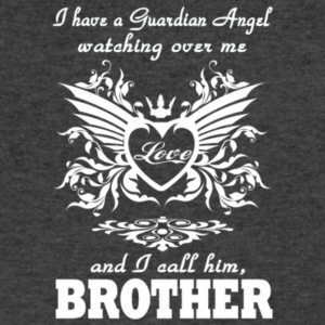 I Have A Guardian Angel Brother T Shirt - Men's V-Neck T-Shirt by Canvas