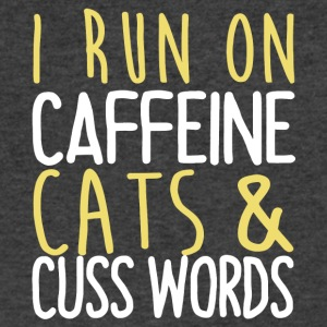 I Run On Caffeine Cats & Cuss Words T Shirt - Men's V-Neck T-Shirt by Canvas