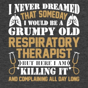 Grumpy Old Respiratory Therapist T Shirt - Men's V-Neck T-Shirt by Canvas
