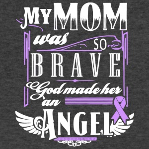 My Mom So Brave God Made Her An Angel T Shirt - Men's V-Neck T-Shirt by Canvas