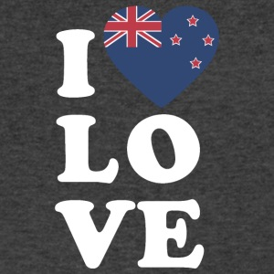 I love New Zealand - Men's V-Neck T-Shirt by Canvas