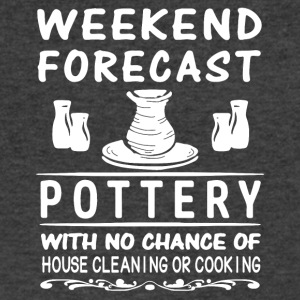 Weekend Forecast Pottery T Shirt - Men's V-Neck T-Shirt by Canvas