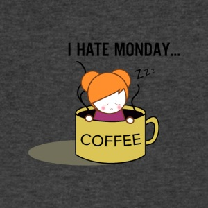 hate monday - Men's V-Neck T-Shirt by Canvas