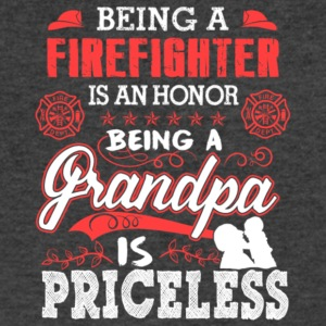 Firefighter Is Honor Grandpa Is Priceless T Shirt - Men's V-Neck T-Shirt by Canvas