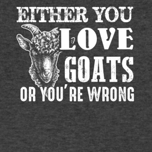 Love or Wrong Goat Shirt - Men's V-Neck T-Shirt by Canvas