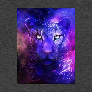 glowing leopard - Men's V-Neck T-Shirt by Canvas