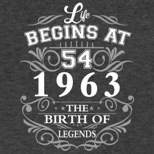 Life begins at 54 1963 The birth of legends - Men's V-Neck T-Shirt by Canvas
