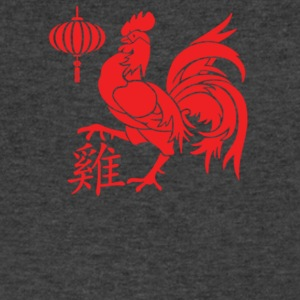 Rooster Red Silhouette - Men's V-Neck T-Shirt by Canvas