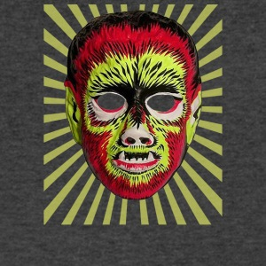 Wolfman Mask - Men's V-Neck T-Shirt by Canvas