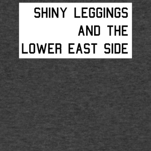 Shiny Leggings And The Lower East Side - Men's V-Neck T-Shirt by Canvas
