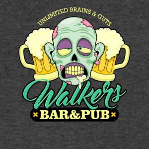 Zombie Walkers Bar and Pub - Men's V-Neck T-Shirt by Canvas